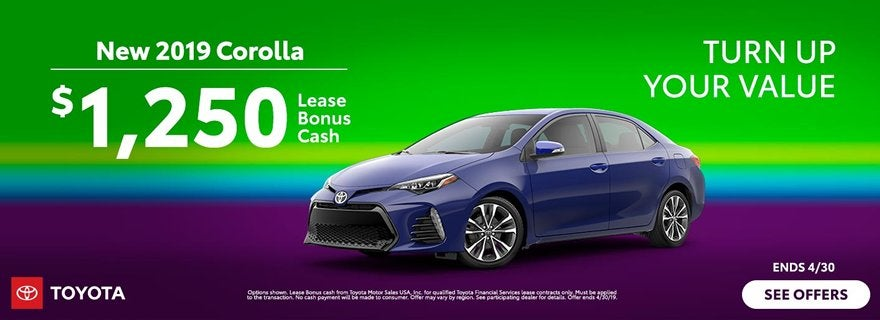 Toyota Turn Up Your Value Corolla